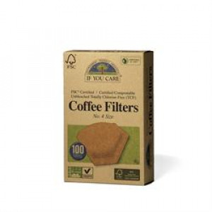 Coffee Filters - Unbleached - No 4 (100)