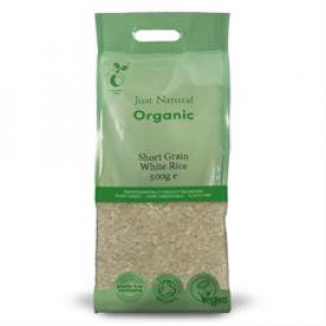 Organic Short Grain White Rice 500g