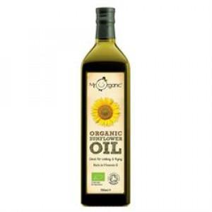 Organic Cold Pressed Sunflower Oil 750ml