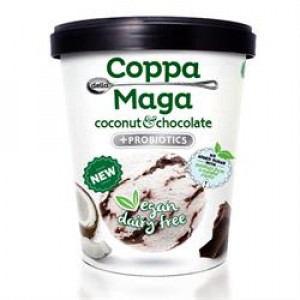 Ice Cream Vegan Coconut Chocolate - Sweetened with Stevia 475ml