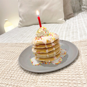 Birthday Breakfast Funfetti Pancakes (1 person)