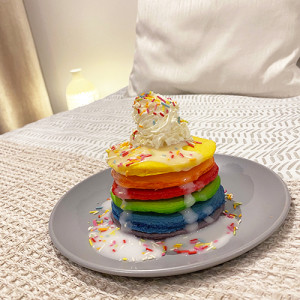 Colour Changing Rainbow Pancakes