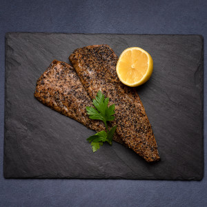 Frozen Peppered Hot Smoked Mackerel