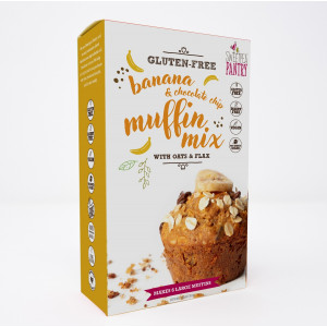 NEW! Banana and Chocolate Chip Muffin Mix with oats and flax (gluten-free)