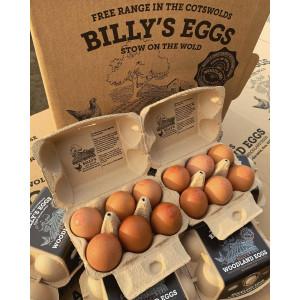 Billy's Free Range Eggs Box of 6