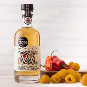 Womersley Golden Raspberry and Apache Chilli Vinegar 250ml