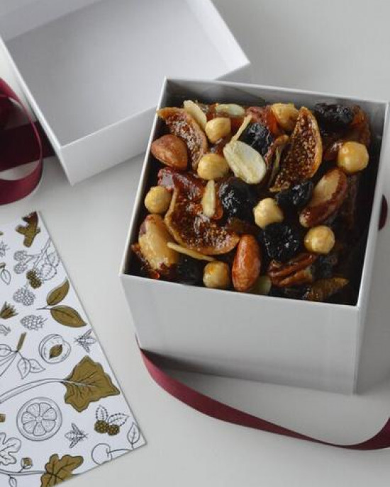 EK Mature Brandy Christmas Cake Fruit and Nut Topped (small serves up to 12)