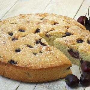 Elvira's Cherry and Almond Cake (Gluten and Dairy Free)