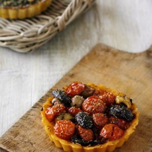 8 Individual Tomato & Olive Flan (Vegan and Gluten Free)
