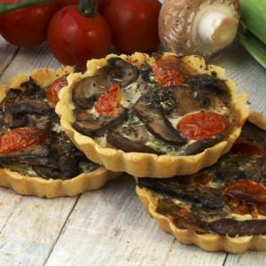 8 Individual Mushroom Flans (Vegan and Gluten Free)