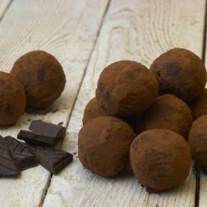 Dark Chocolate Rum-Almond Truffles (Vegan, Gluten and Dairy Free)