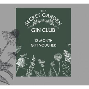 The Old Curiosity Secret Garden Gin Club 12 months Voucher