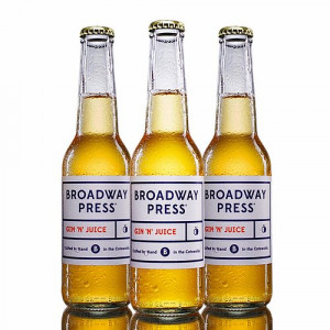 Broadway Press® GIN'N'JUICE 4.8% ABV - 12 x 275ml Bottles