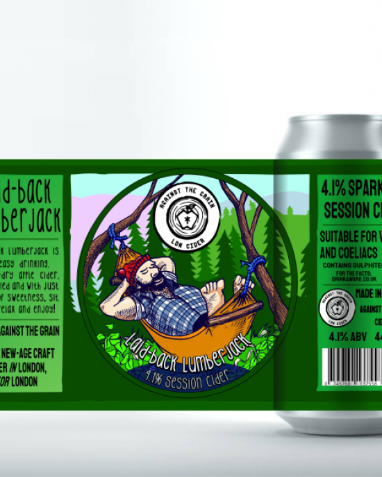 Laidback Lumberjack, Session Cider (8x440ml Cans)