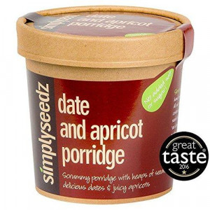 DATE AND APRICOT Vegan & Dairy Free Instant Porridge Pot 60g