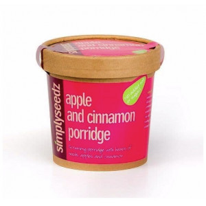 APPLE AND CINNAMON Instant Porridge Pot 60g (12 Pack) Vegan and Dairy Free