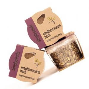 MEDITERRANEAN HERB Flavoured Baked Pumpkin Seeds Multi Buy (12 x 40g Packs)