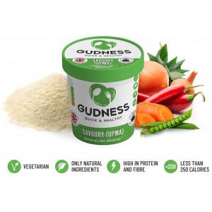 Savoury (Upma) - 100% Natural Healthy Indian Breakfast (x 8 Pots)
