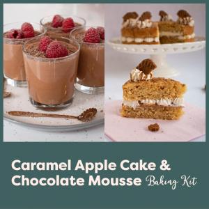 Caramel Apple Cake & Chocolate Mousse Baking Kit