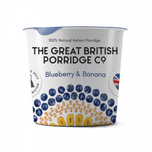 The Great British Porridge Co. Blueberry and Banana (8 single pots)