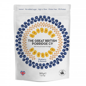 The Great British Porridge Co. Porridge Bag Blueberry and Banana (7 servings)