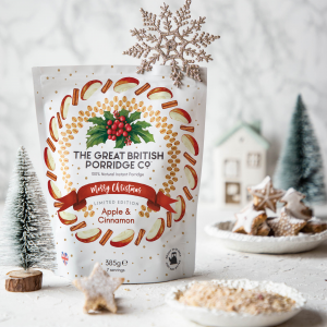 The Great British Porridge Co. Porridge Bag Christmas Limited-Edition Apple & Cinnamon (7 servings)